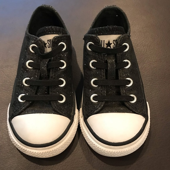Converse Other - Toddler Girls Black Sparkle Converse All Stars 70ffad7ba